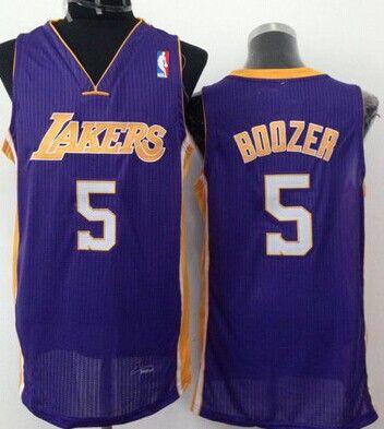 Los Angeles Lakers 5 Carlos Boozer Purple Swingman Jersey ... c9545fa43