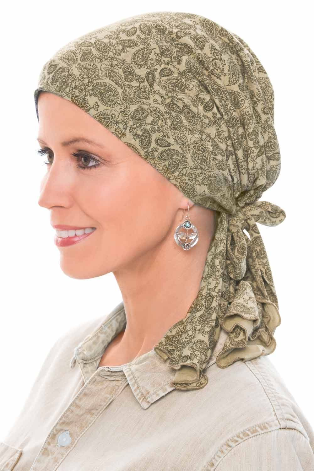 Pre Tied Scarves - So Simple Scarf in Silky Soft Bamboo by Cardani #tieheadscarves
