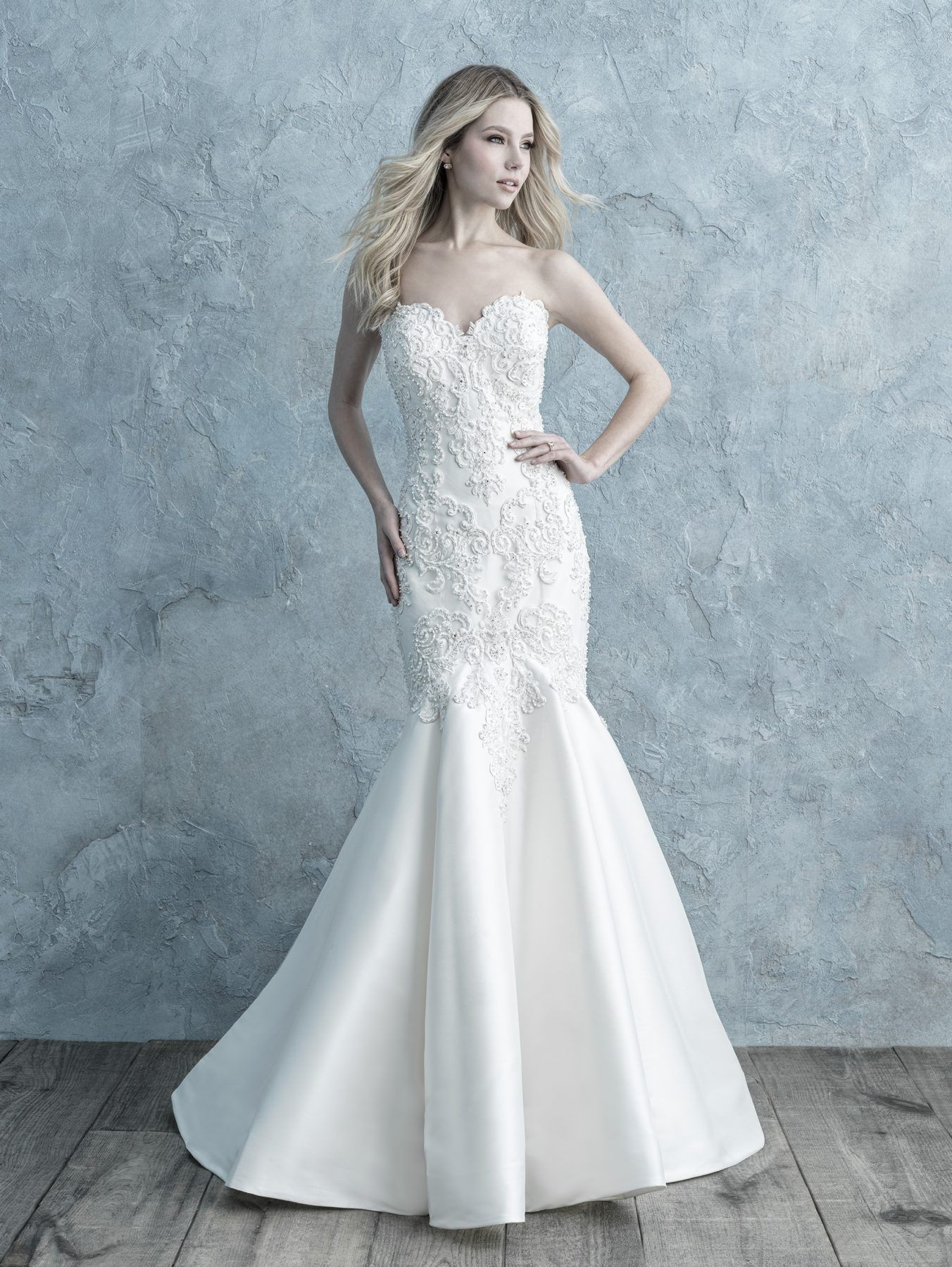 Beaded Lace Appliqué Sweetheart Strapless Fit And Flare Wedding Dress | Kleinfeld Bridal