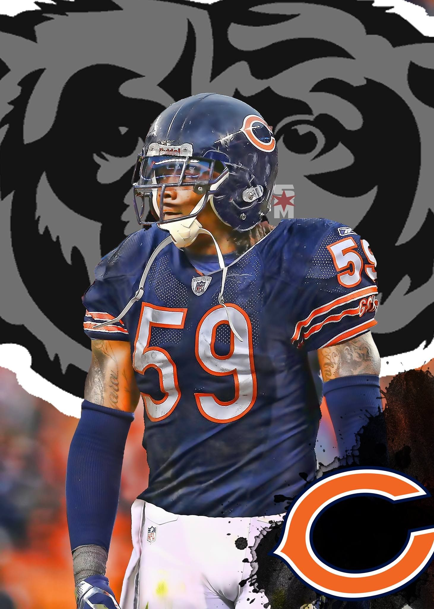 New Lb Danny Trevathan Chicago Bears Pictures Chicago Bears Football Chicago Bears Wallpaper
