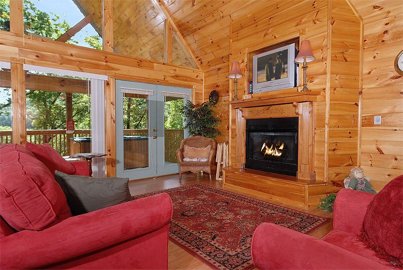 Sweet Serenity Is A Secluded 1 Bedroom Log Cabin Located Just