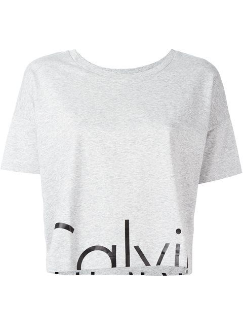 54123c01df8 Designer Clothes, Shoes & Bags for Women. Calvin Klein Jeans cropped T-shirt