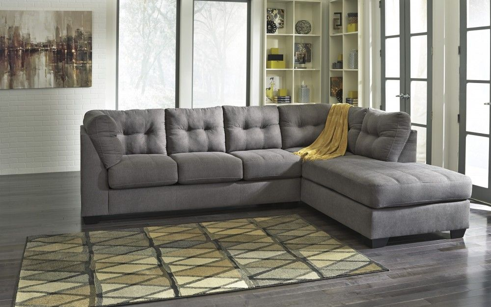 Maier Charcoal 2 Pc Raf Corner Chaise Sectional In