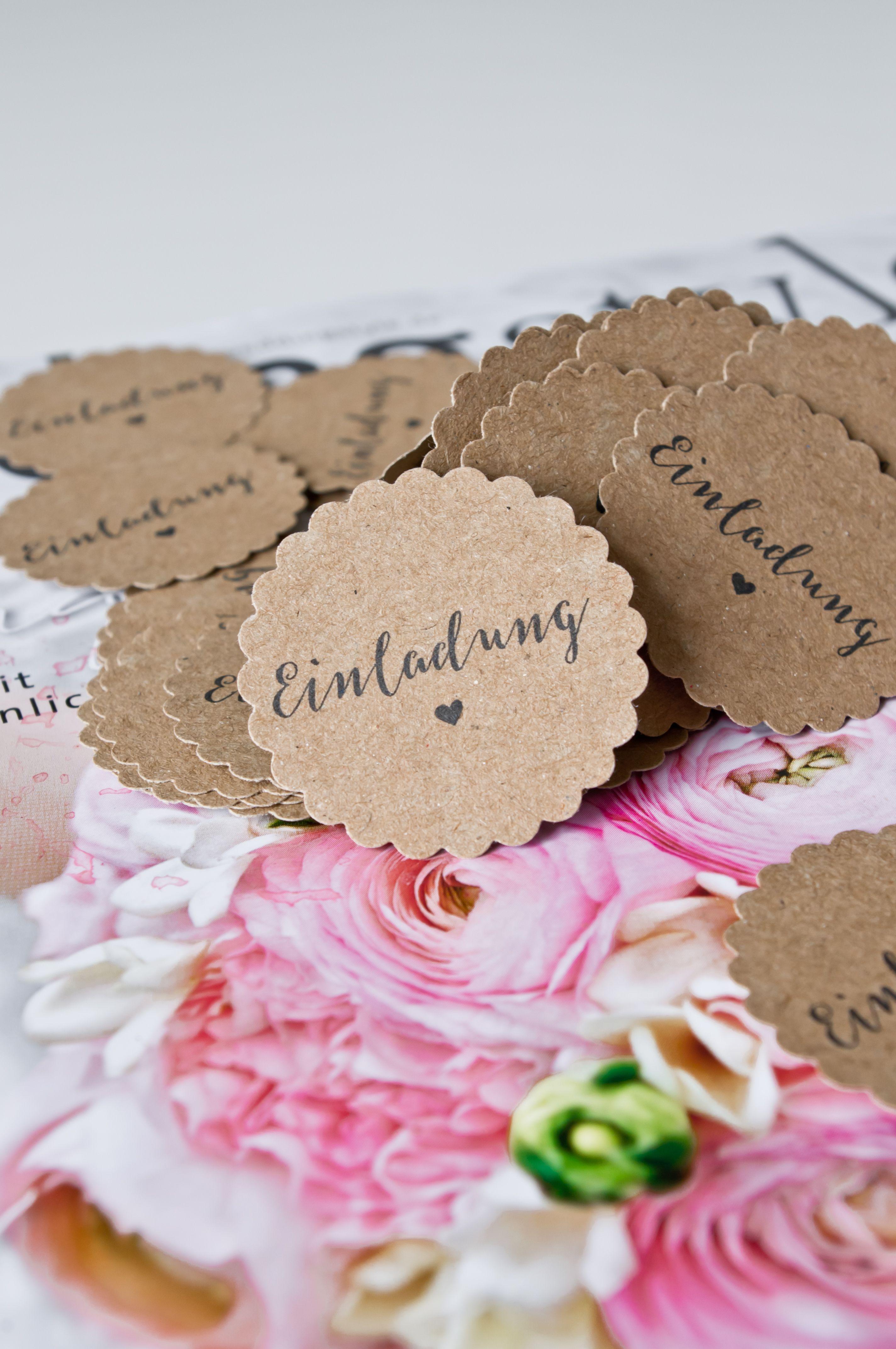 #Anhänger #Kraftpapier #Papieranhänger #Einladung #personalisiert #Hochzeit  #wedding #hochzeitsbastelei