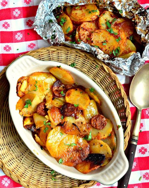 This is How I Cook: Grilled BBQ Potato Bundles with Chorizo