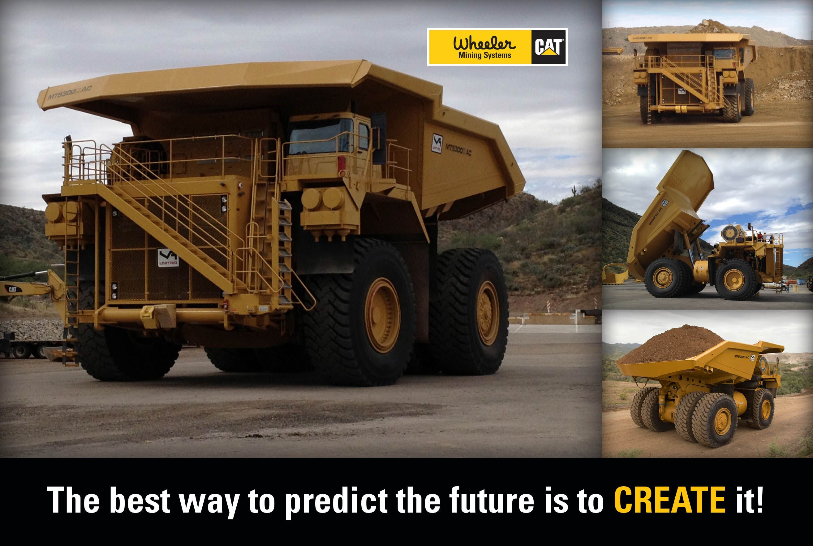 Cat releases its new 320 ton mt5300d haul truck with pilot models as early as 2013