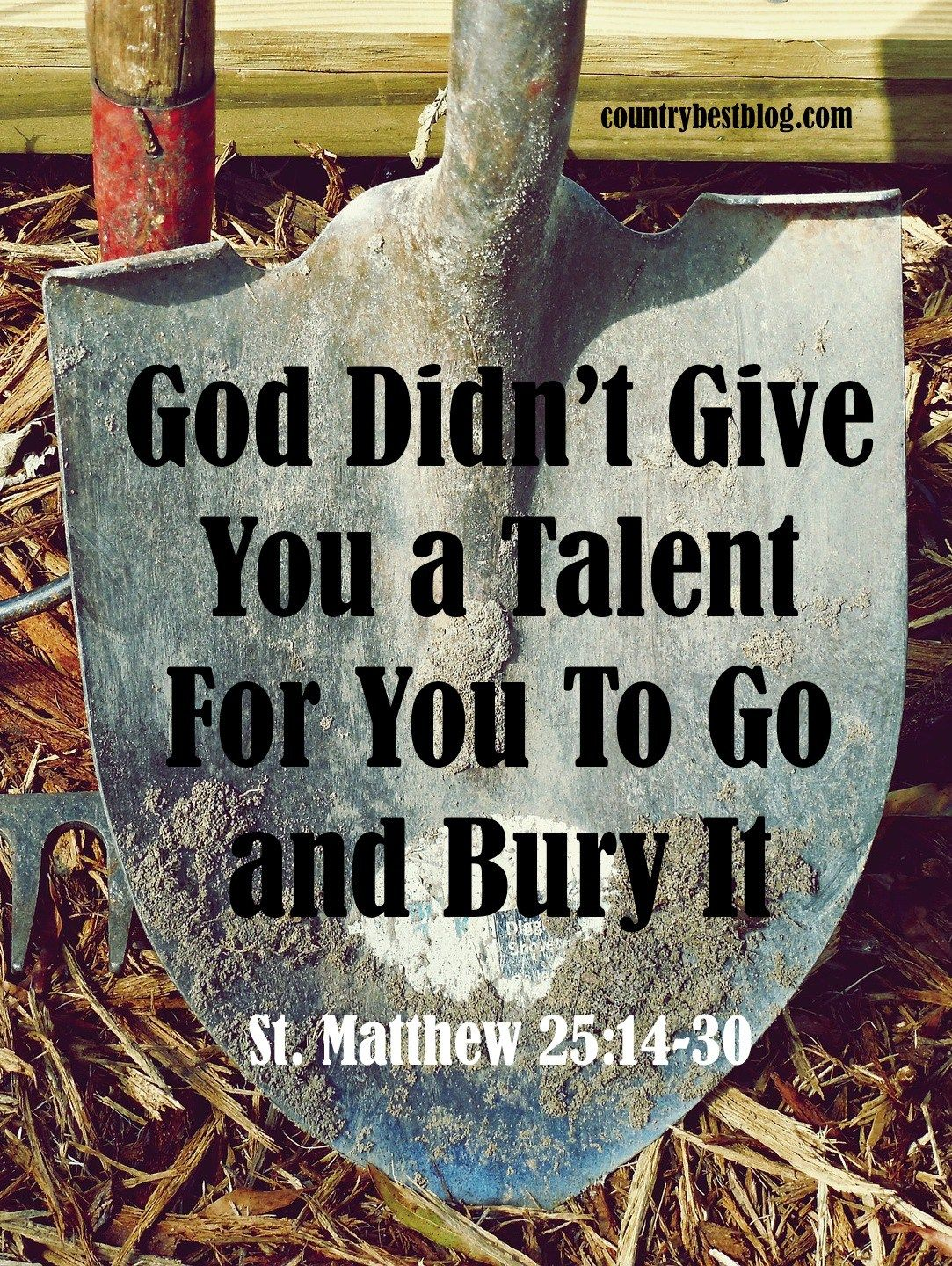 Christ S Parable Of The Talents God Didn T Give You A Talent For You To Go And Bury It Countrybestblog Bible Lessons Talent Quotes Youth Bible Study Lessons