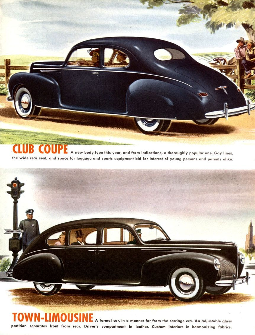 1940 Lincoln Club Coupe And Town Limousine Continental 1941 Car