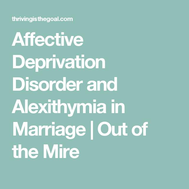 Affective deprivation disorder