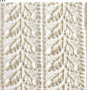 Japanese lace leaves knit stitch. More Great Patterns Like This Knitting ...