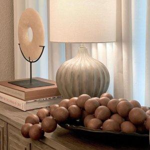 Wooden Bead Garland - Natural