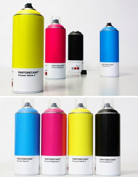 Pantoned Spray Paint Cans Art Of Design Pinterest Spray Painting And Design Products