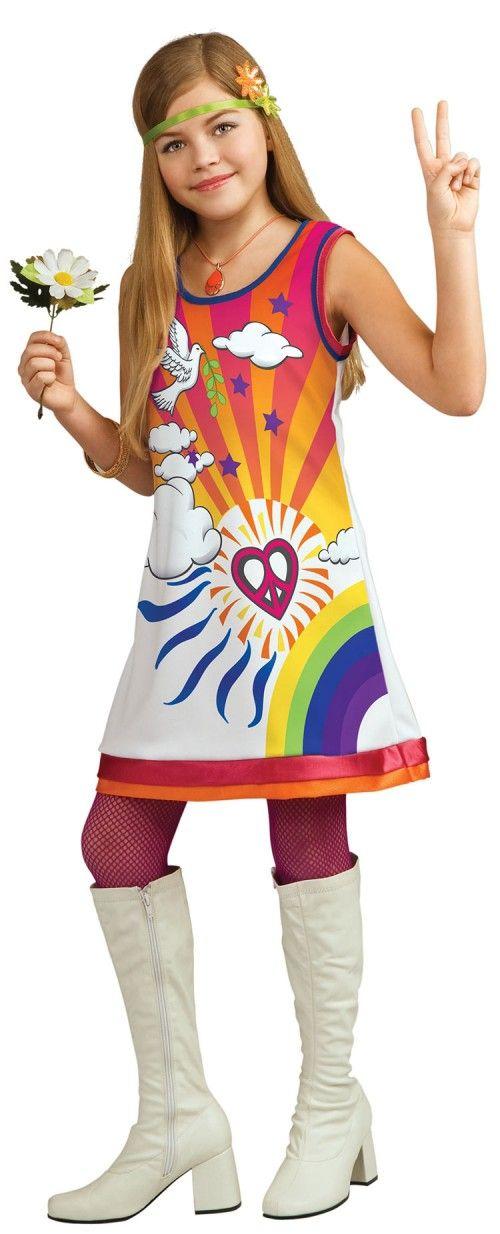 Girls Hippie Costume  sc 1 st  Pinterest & Girls Hippie Costume | dress | Pinterest | Hippie costume Costumes ...