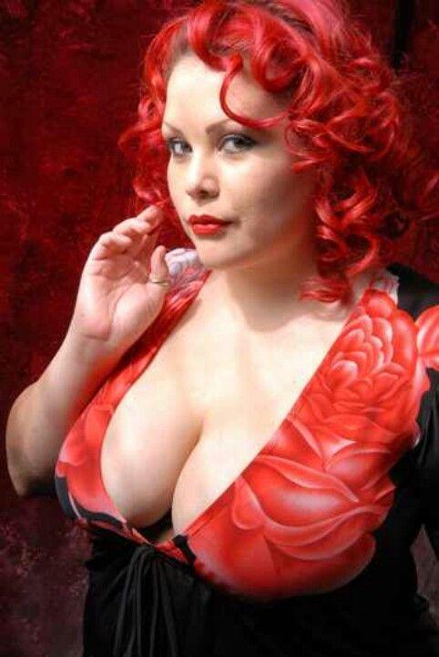 Auburn Hair Female Porn Stars - BBW porn star April Flores