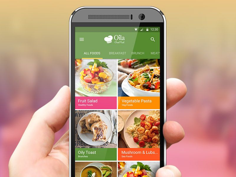 Food recipes app pinterest app ui patterns and application design food recipes app forumfinder Gallery