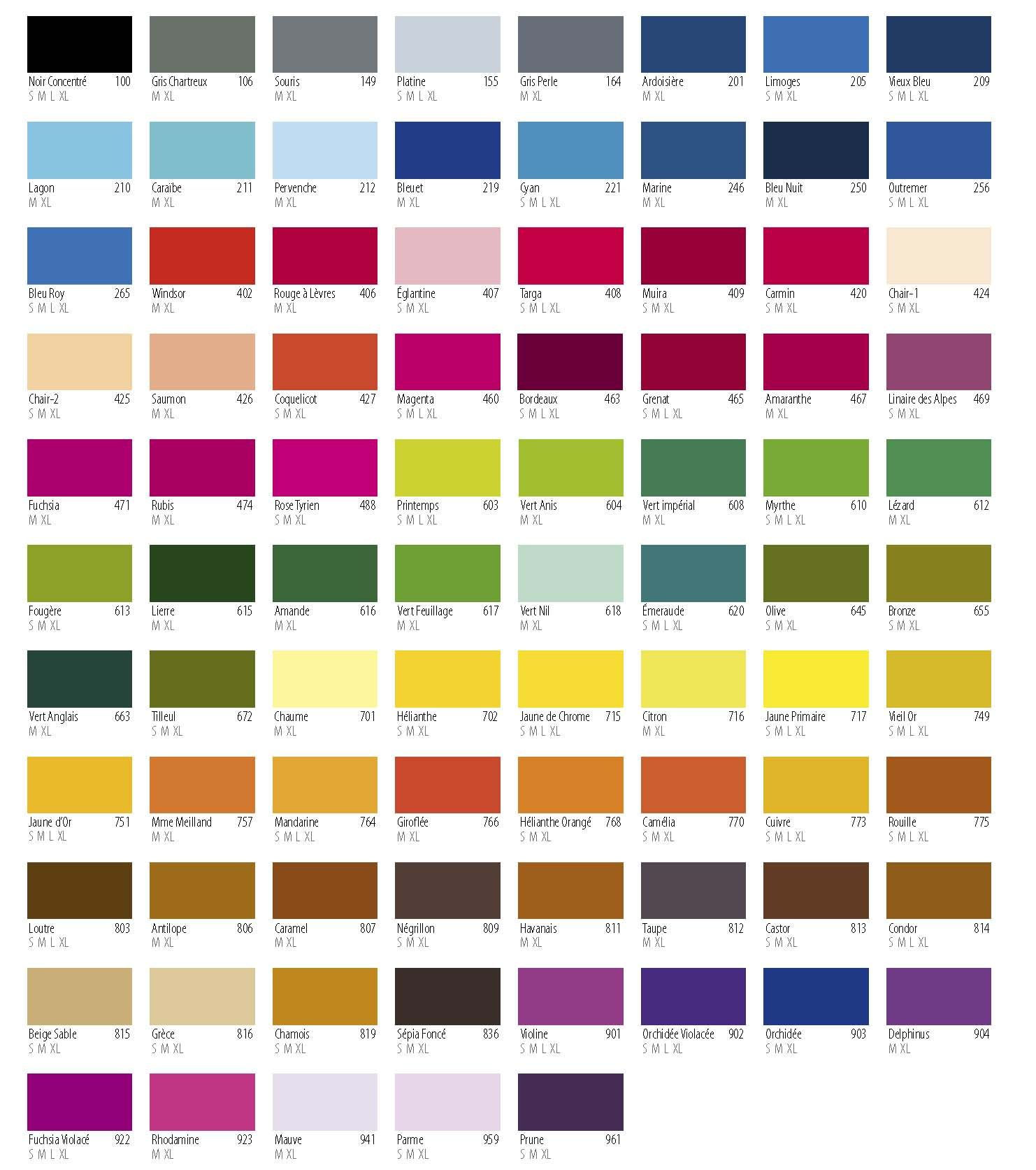 Paint Color For Cars Chart | Carbk co