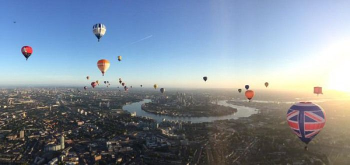Hot air balloons in London