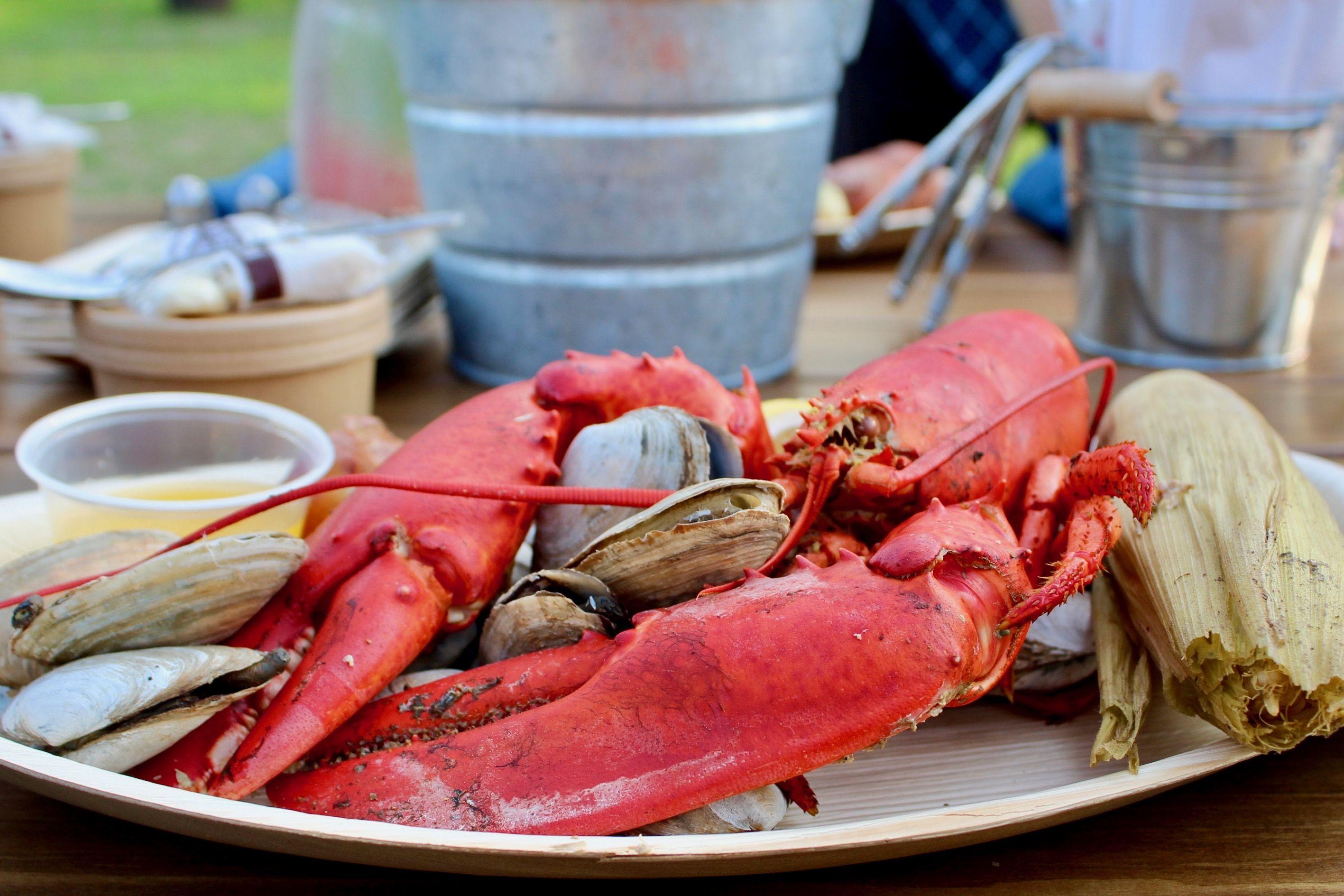 Maine Shore Dinner Clam Bake Seafood Boil Recipes Lobster Dinner