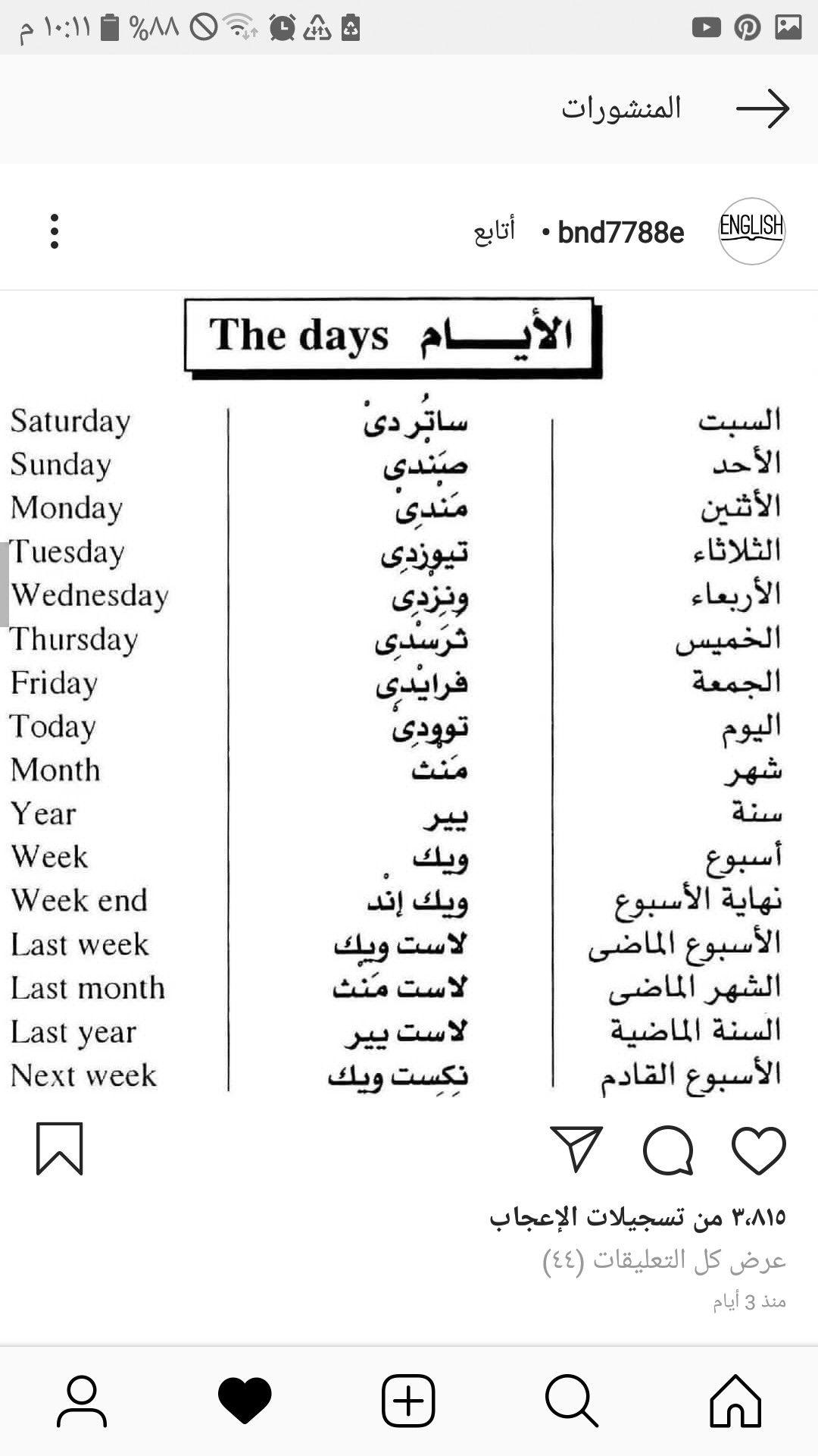 Learning Arabic Msa Fabiennem English Phrases Learn English Words English Vocabulary Words