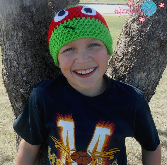 TMNT Inspired Hat - Crochet Turtle Hat - Crochet Turtle Beanie - Turtle Hat - Turtle Beanie #crochetturtles