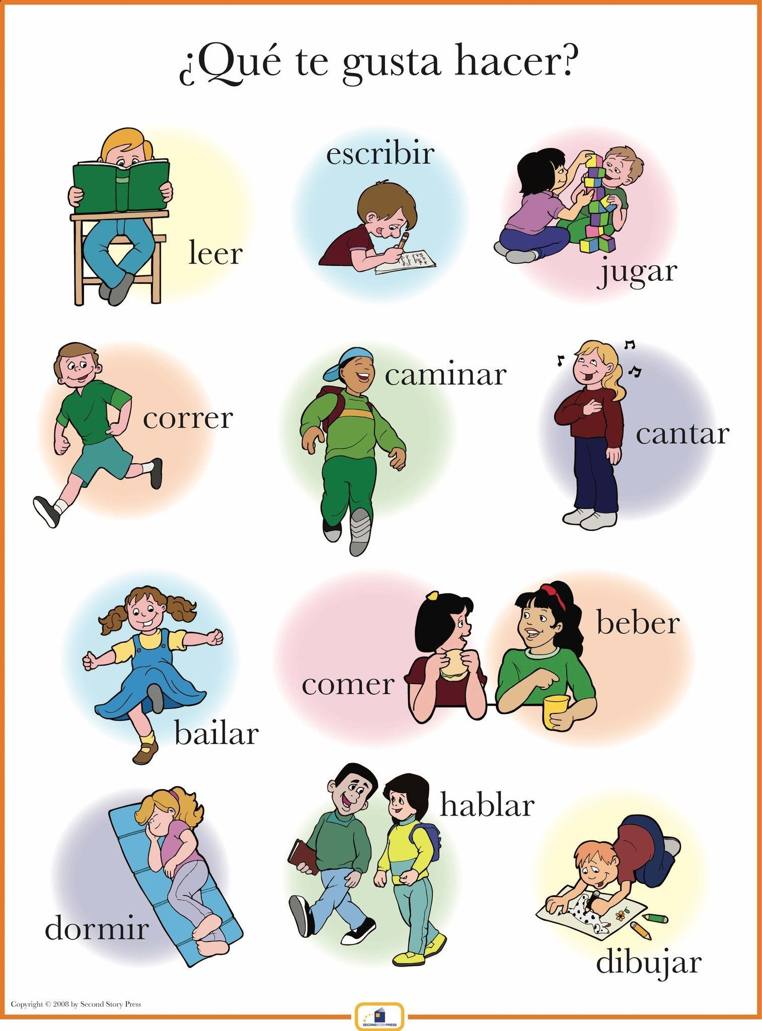 Introduce activity words with this colorful 18 x 24 in. poster that includes a… Plus