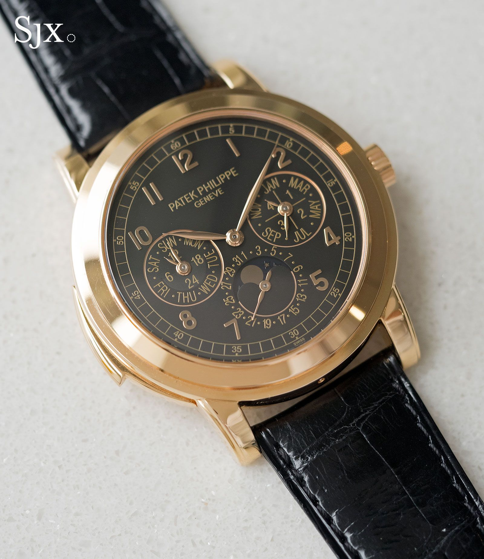 793f01c31e8 Patek Philippe ref. 5074R minute repeater with perpetual calendar The ref.  5074 is notable within the Patek Philippe grand complication line-up for  being ...