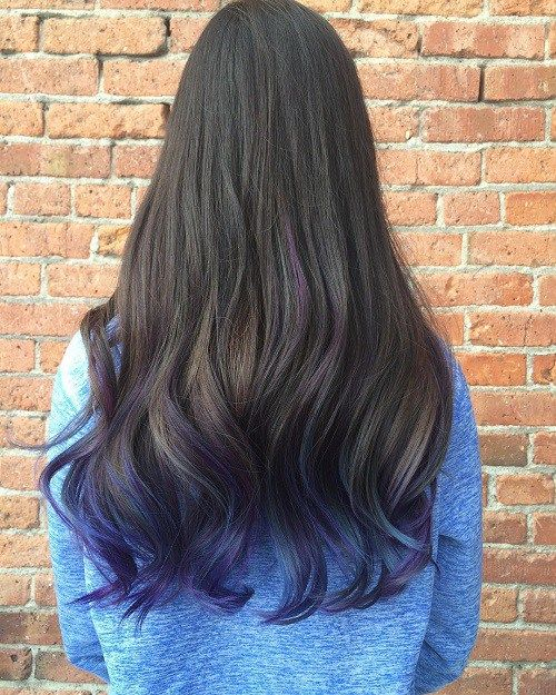 40 Fairy Like Blue Ombre Hairstyles Dark Brown Hair Coloring And