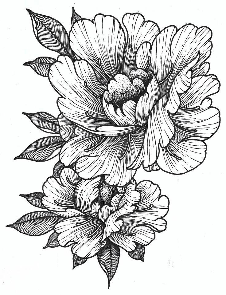 Картинки татуировки цветы