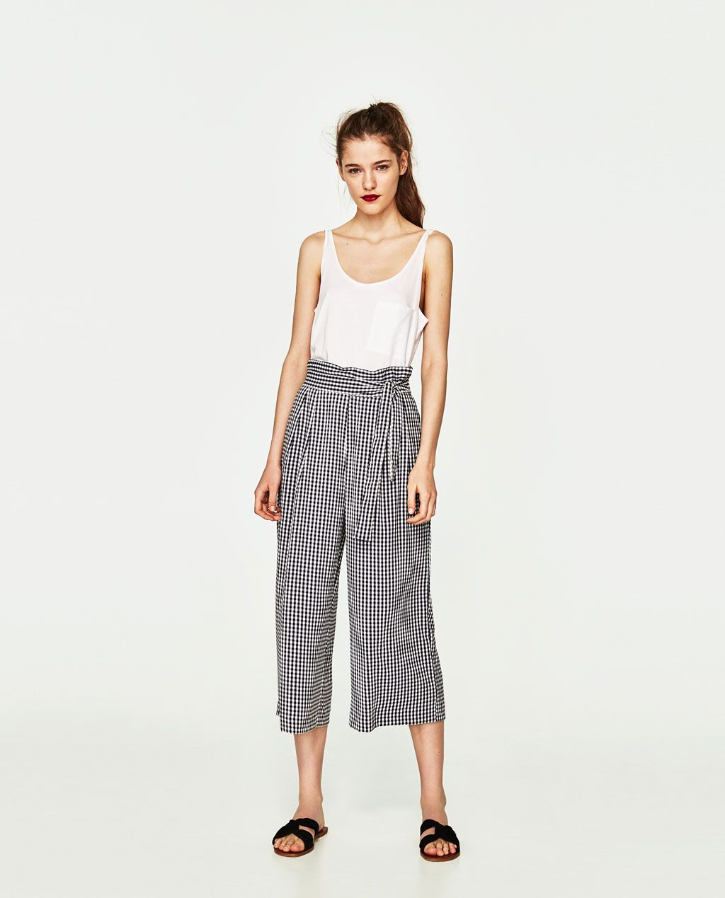 11b55283736 CROPPED TROUSERS WITH SIDE TIE-View all-TROUSERS-WOMAN | ZARA United States