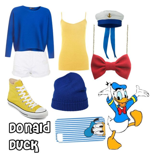 """Donald Duck"" by ayen-m on Polyvore featuring Converse, malo and Topshop"