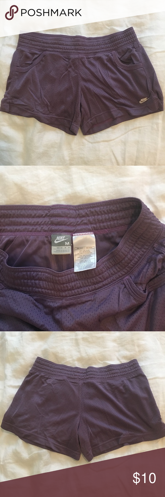 Mesh Nike Shorts Purple mesh Nike shorts! Nike Shorts