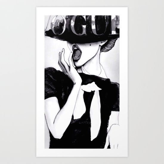 Popular black and white art print