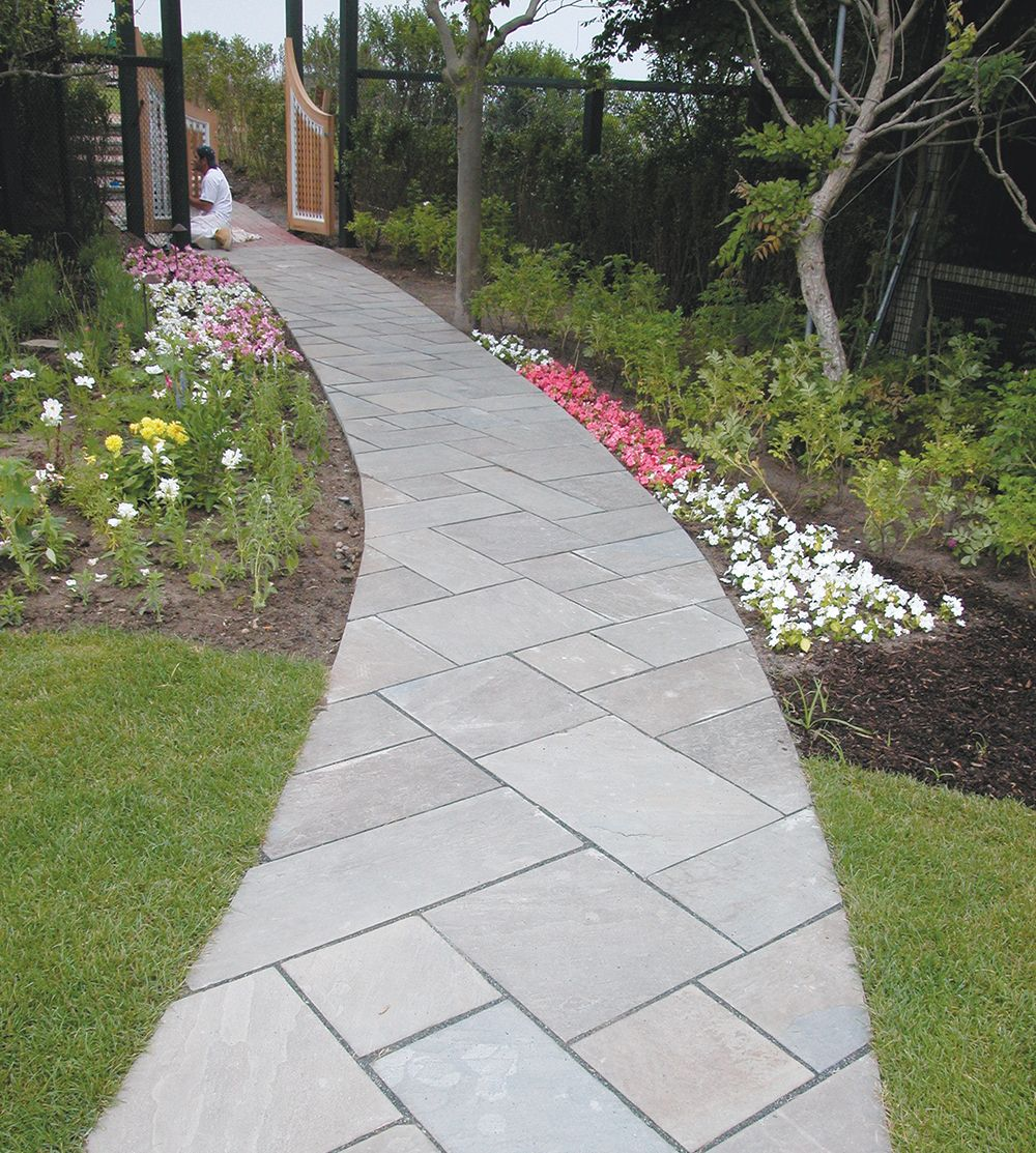 Pretty pattern for walkway the great outdoors for Bluestone house