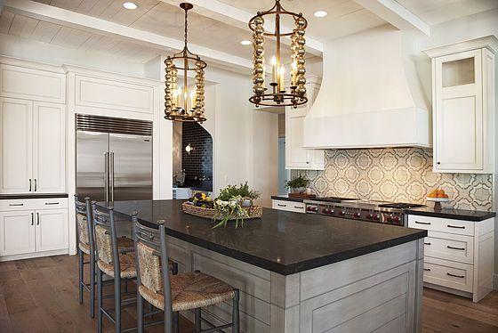 Kitchen In 2019 Grey Kitchen Island Black Granite