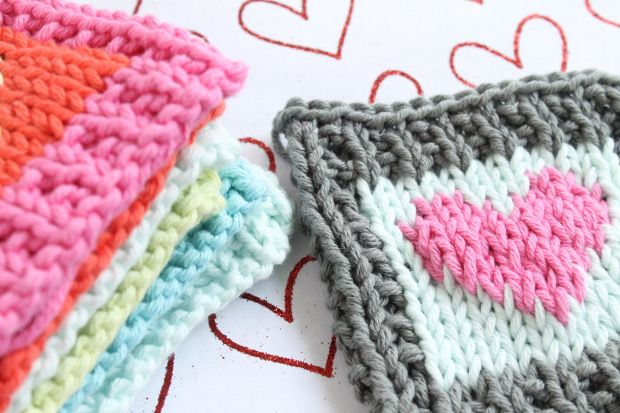 Cotton Heart blanket squares Knitting pattern by ...