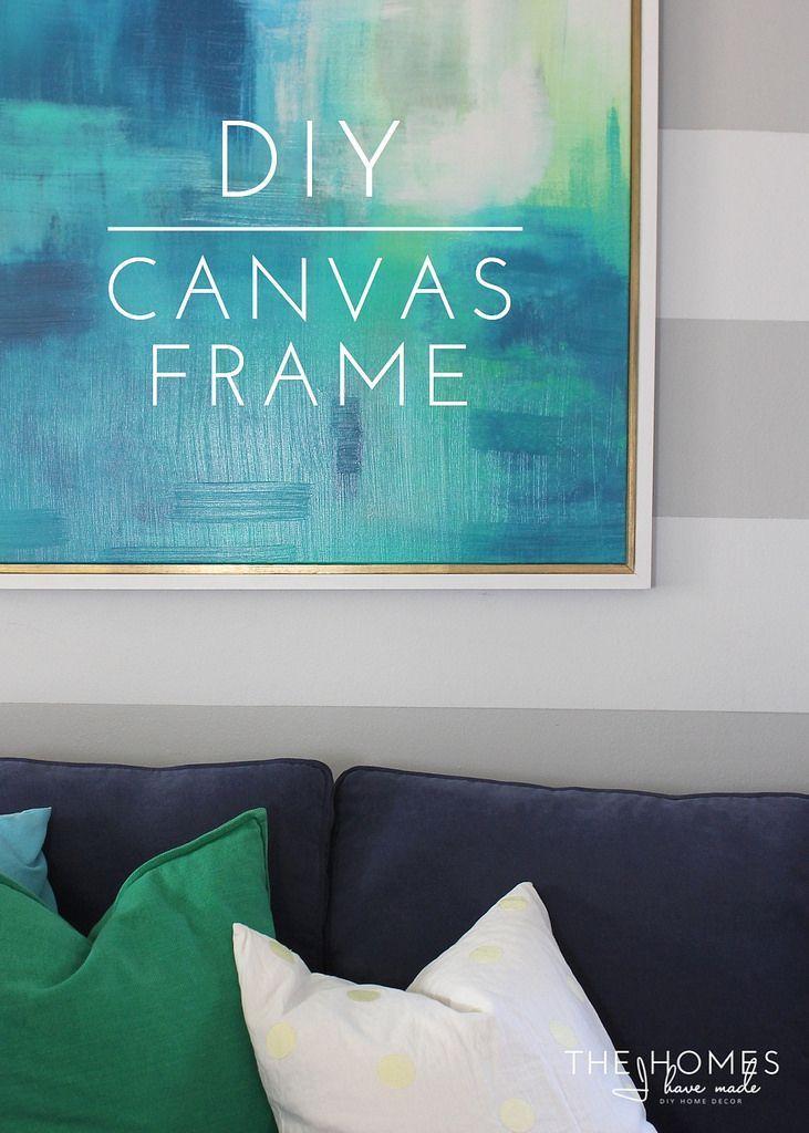DIY Canvas Frame | Diy canvas frame, Craft and Diy canvas