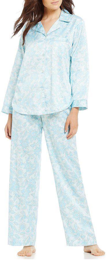 Miss Elaine Floral BrushedBack Satin Pajamas Products Pinterest