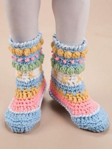 Annie/'s Crochet BIG FOOT BOUTIQUE slippers crochet pattern book