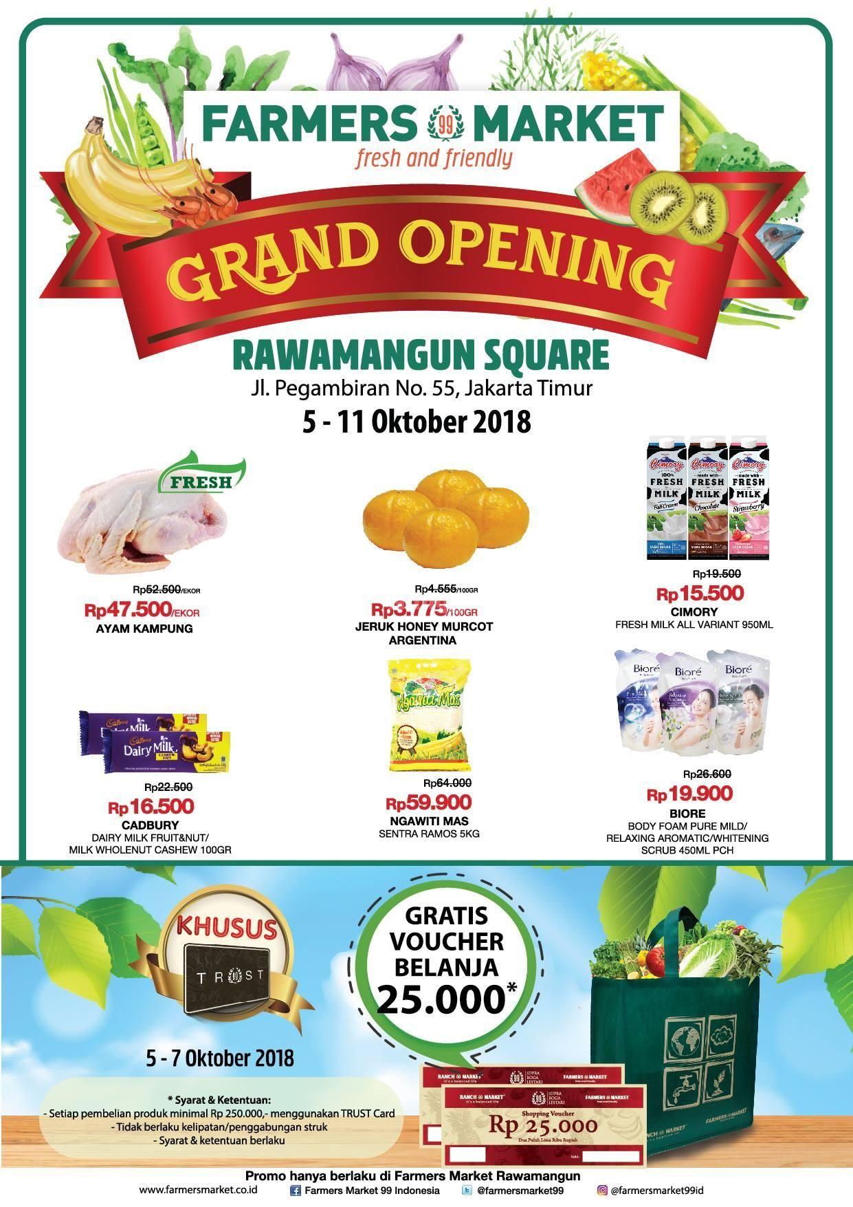 Farmers Market Rawamangun Square Grand Opening Promo 5 11 Oktober 20188 Temukan Berbagai Promo Dan Diskon Menarik Serta Pengal Farmers Market Brosur Produk