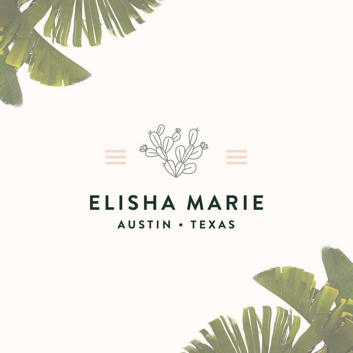 brand identity, logo design, brand design, brand design for jewelry boutique, jewelry boutique, cactus logo, soft Color Palette   Elisha Marie by Doodle Dog is part of Colorful logo design -