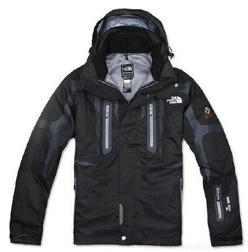 Mens The North Face Triclimate 3 In 1 Jacket Black Grey Lining