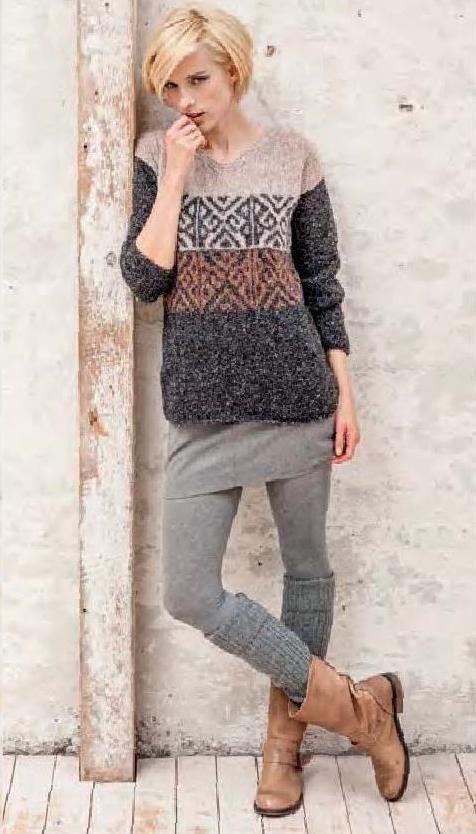Lana Grossa FILATI Handstrick No. 57 - Nora | Knit outfit ...