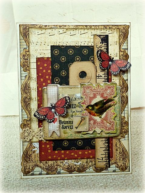 Graphic 45 Card Gallery Show | Card: Sympathy card