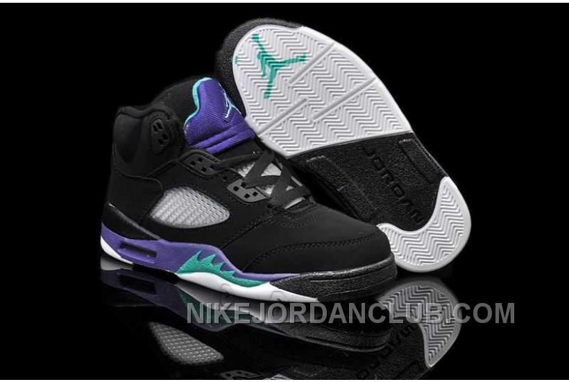 size 40 a541c 6b971 Buy Nike Air Jordan 5 Kids Black New Emerald Grape Ice Shoes 209863 from  Reliable Nike Air Jordan 5 Kids Black New Emerald Grape Ice Shoes 209863  suppliers.