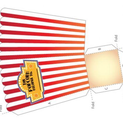 Popcorn box printable circus theme Pinterest Family movie