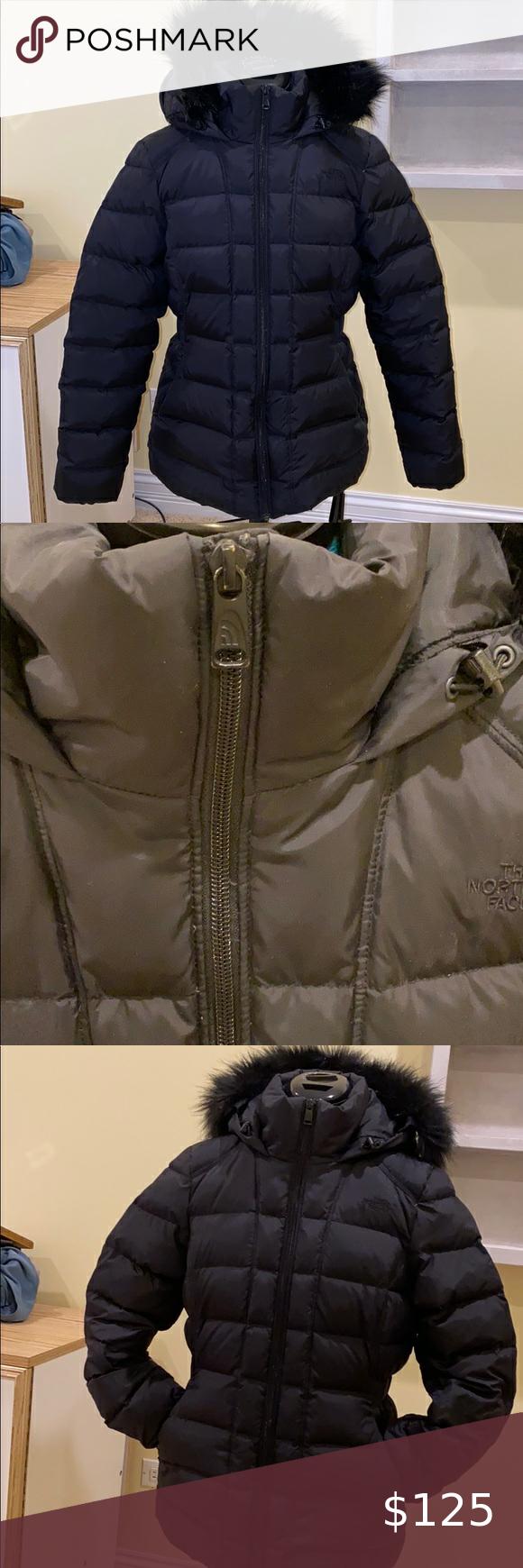 Woman S North Face Gotham Jacket Black Winter Jacket Black North Face Jackets [ 1740 x 580 Pixel ]