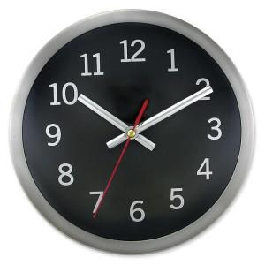 Timekeeper Products 9 In Round Brushed Metal Rim Hand Wall Clock 2253b The Home Depot Wall Clock Round Wall Clocks Wall Clock Modern