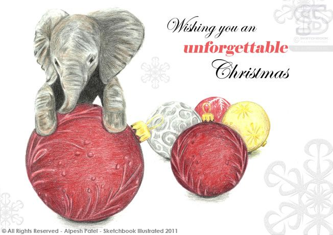 Image result for elephant christmas cards
