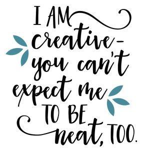 Silhouette Design Store: I Am Creative Neat Phrase