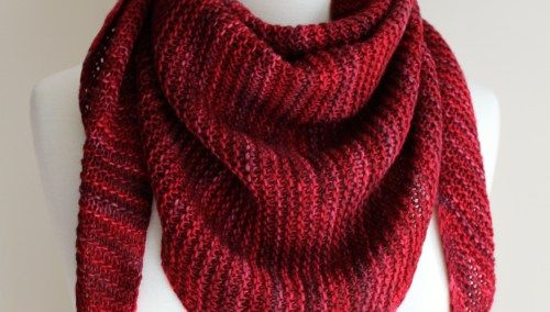 Free Knitting Patterns Totally Triangular Scarf